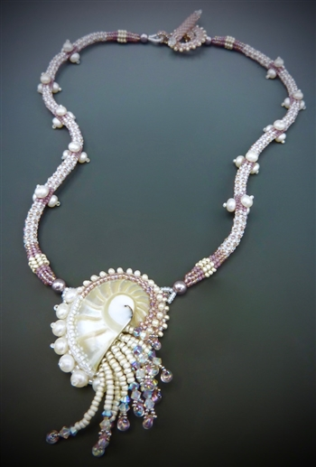 Nautilus Necklace Kit, orchid & white