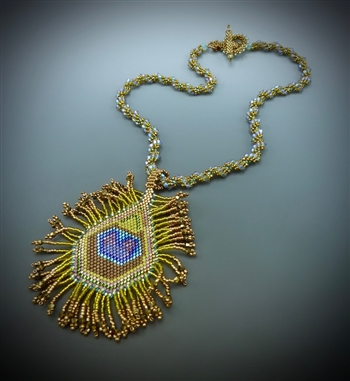 Peacock Feather Necklace Kit