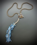 True Blue Necklace, sepia color way