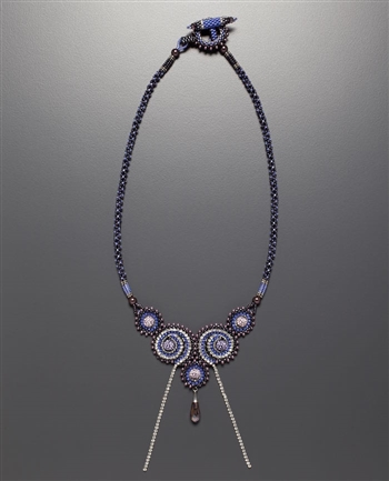 Oceanside Deco Necklace Kit, purple & silver