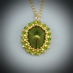 Scarab Beetle Pendant Necklace