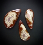 Set of Three Laguna Agate Cabochons