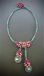 Vineyard Jewel Necklace Kit, emerald & mulberry