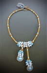 Vineyard Jewel Necklace Kit, ice blue & apricot