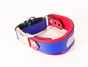 Quick Release Martingale Leather Collar