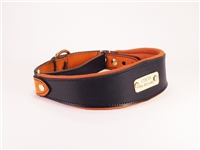 Leather Martingale Collar l Custom Deerskin Padded