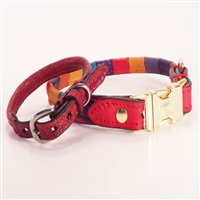 Luxury Rolled Leather Dog Collar
