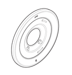 Cleveland 168190 Polished Chrome Escutcheon for Cornerstone Single Handle Tub and Shower Valves