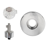 Bradley Bradtrol Tub and Shower Rebuild Kit. This is a rebuild kit Bradley single handle push-pull tub and shower valves. Complete repair kit includes new cartridge repair kit, handle and polished chrome escutcheon plate.
