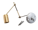 Gerber Bathtub Trip Lever Waste Assembly with Face Plate and Brass Plunger with Linkage - 42-7169. Replacement for Gerber 97-171KT Trip Waste Assembly