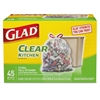 Recycling Tall Kitchen Trash Bags, Clear, Drawstring, 13 gal, 45/Box, 4 BX/CT
