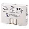 High-Density Can Liner, 33 x 39, 33gal, 11mic, Clear, 25/Roll, 20 Rolls/Carton