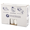 High-Density Can Liner, 40 x 46, 45gal, 12mic, Clear, 25/Roll, 10 Rolls/Carton