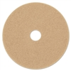 "Ultra High-Speed Floor Burnishing Pads 3400, 20"" dia, Tan, 5/Carton"