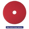 "Red Buffer Floor Pads 5100, Low-Speed, 17"", 5/Carton"
