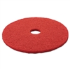 "Red Buffer Floor Pads 5100, Low-Speed, 20"", 5/Carton"