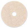 Ultra High-Speed TopLine Floor Burnishing Pads 3200, 20-Inch, White/Amber