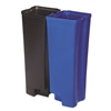 Step-On Rigid Dual Liner For Resin Front Step, Plastic, 24 gal, Black/Blue