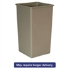 Untouchable Waste Container, Square, Plastic, 50 gal, Beige