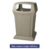 Ranger Fire-Safe Container, Square, Structural Foam, 45 gal, Beige