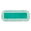 "Dust Pad w/Fringe, Microfiber, 18"" Long, Green, 6/Carton"