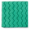 Reusable Cleaning Cloths, Microfiber, 16 x 16, Green, 12/Carton