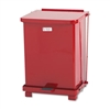 Defenders Biohazard Step Can, Square, Steel, 7gal, Red