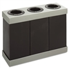 At-Your-Disposal Recycling Center, Polyethylene, Three 28gal Bins, Black
