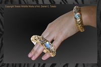 "Tiger Bracelet ""Melanie's Precious"" by wildlife artist jeweler Daniel C. Toledo, Toledo Wildlife Works of Art"