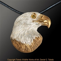 "Bald Eagle Pendant ""Stately One""by wildlife artist and jeweler Daniel C. Toledo, Toledo Wildlife Works of Art"