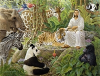 "GICLEE PRINT ""JESUS AND HIS ENDANGERED ONES"""