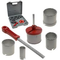 5 pc HOLE SAW TUNGSTEN CARBIDE for MASONRY / CONCRETE