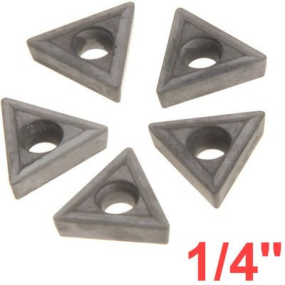 "1/4"" C6 Carbide Insert for Indexable Lathe Toolholder"