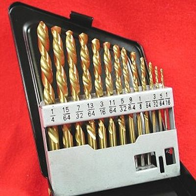 13 pc Extractor Left Hand Titanium Drill Bit Set