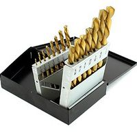 15 bits Left Hand Titanium Drill Bit Set