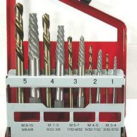 10 Piece EXTRACTOR & LEFT HAND COBALT DRILL BIT SET