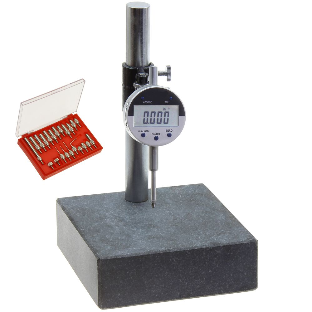 Digital Indicator Gauge : Granite check surface comparator and electronic di