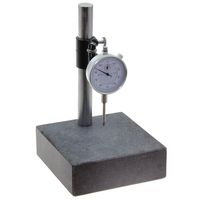 GRANITE CHECK STAND SURFACE PLATE & DIAL INDICATOR GAGE