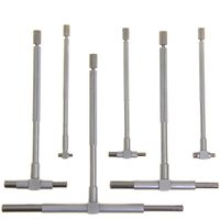 6 pc TELESCOPIC T BORE HOLE Precision GAGE GAUGE SET