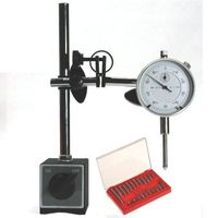 DIAL INDICATOR + MAGNETIC BASE w/FINE ADJUSTMENT + 22 pc POINT SET