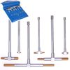 6 Titanium Coated TELESCOPING T BORE HOLE Precision GAGE GAUGE SET