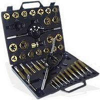 LARGE TITANIUM ALLOY TAP & DIE KIT TOOL SET METRIC MM