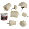 8 pc Drill Polisher Buffer Kit with Mothers Aluminum Polish Paste
