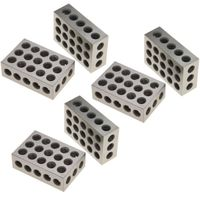 "1-2-3 Blocks Matched Pair Hardened Steel 23 Holes (1""x2""x3"") 123 Set Precision Machinist Milling, 3 Pair"