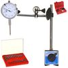 DIAL INDICATOR + MAGNETIC BASE w/FINE ADJUSTMENT + 22 POINT SET + CASE