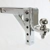 "CHROME 10"" ADJUSTABLE TRAILER DROP BALL MOUNT HITCH TOW"