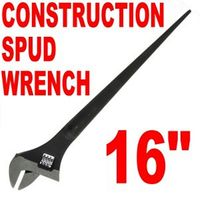"Pro 16"" Adjustable CONSTRUCTION SPUD WRENCH 1-1/2"""