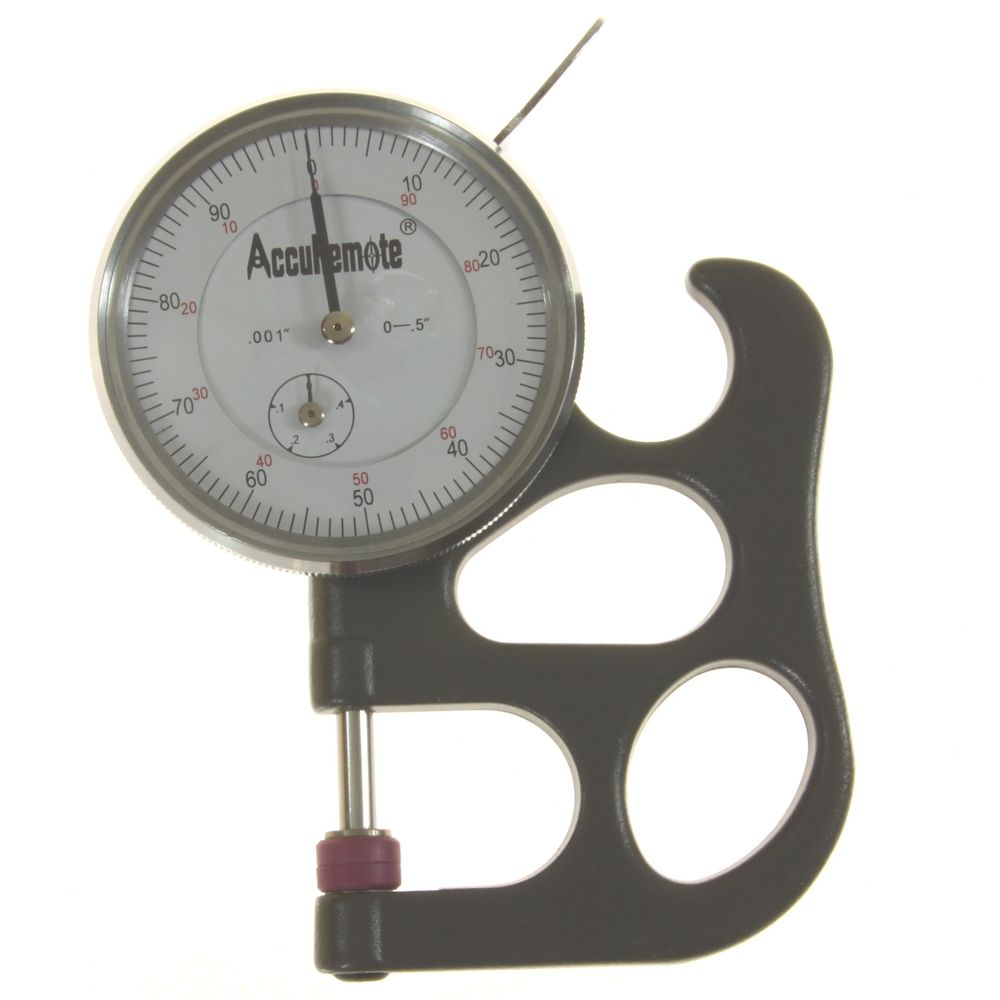 how to use dial thickness gauge