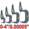 "4 pc 0-4""/0.00005"" ELECTRONIC MICROMETER DIGITAL  X-PRECISION OUTSIDE LARGE LCD"