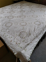 Huge cotton quilted throw in great pattern